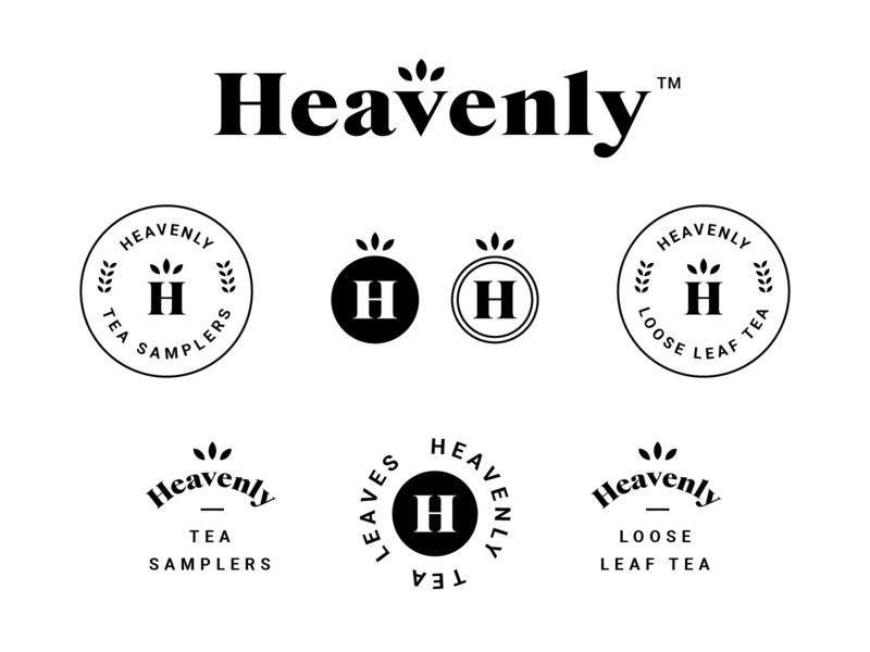 Heavenly Tea Leaves Branding #3 typography vector designer design direction logo designer tea branding tea logo logos tea monoline logo design minimal badge logo modern brand identity brand branding logo
