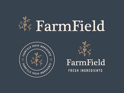FarmField Logo Lockups logo mark farmfield minimal logo designer logotype logo lockups typography vector badge logos logo design badge logo modern monoline brand identity logo brand branding