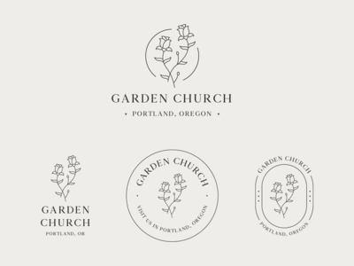 Garden Church Logo & Branding #2