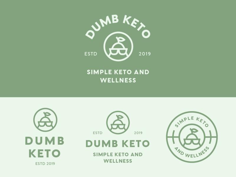 Dumb Keto Branding nutritional keto logo healthy diet nutrition keto dumb keto keto diet logos logo design minimal badge logo modern monoline logo brand identity brand branding