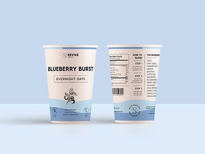 Superfoods Packaging Concept healthy organic cup oats superfoods packaging mockup packaging design packaging minimal logo design modern monoline brand identity brand logo branding