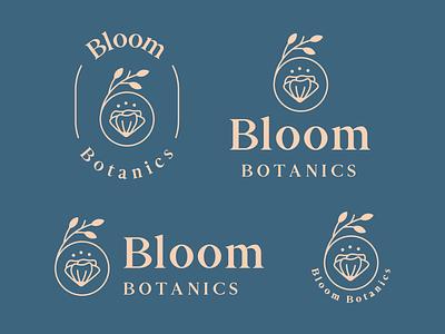 Bloom Botanics Logo & Branding logo lockups flower nature organic leaf plant bloom botanics logos logo design minimal badge logo modern monoline brand identity logo brand branding