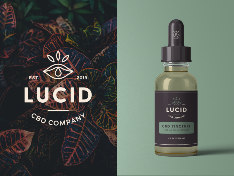 Lucid CBD Branding & Packaging cbd minimal modern packaging mockup packaging design packaging logo design monoline brand identity brand logo branding
