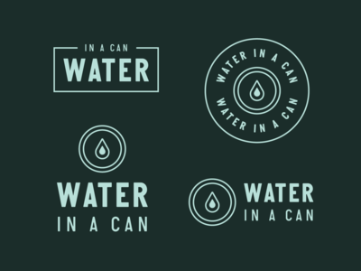 Water in a Can Branding #1