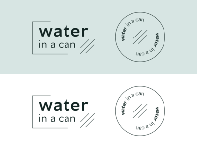 Water in a Can Branding #2