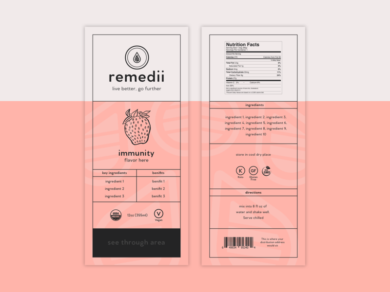 Remedii Packaging Label Concepts packaging designer branding designer label design label wellness health packaging packaging mockup packaging design logo design minimal modern brand identity brand logo branding