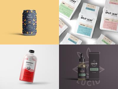 Top 4 Packaging Projects (2019) packaging designer label design can design tincture packaging packaging mockup packaging design logo design minimal modern monoline brand identity brand logo branding