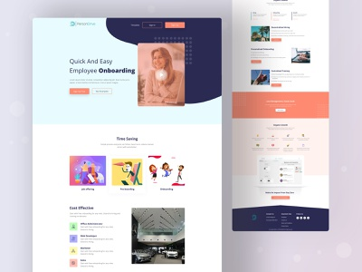 Concept Design for PersonDrive Home layout design agency template dribbble best shot landing page design home page design home page branding landing page landing agency website color uidesign design creative ux clean ui