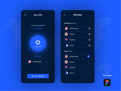 Aero VPN android app mobile app development mobile apps application app design vpn app vpn mobile app design mobile app uidesign creative ux clean ui ios application ios app design