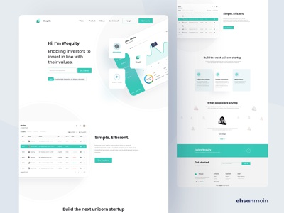 Wequity Landing Page Design clean landing page landing pages landing page concept landing agency website color uidesign design ux creative clean ui landing page design landing page