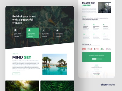 The Jungle Corp Landing Page Design webdesign landingpage creative design ui design landing page design jungle landing landing page landing website color uidesign design ux creative ui clean