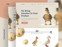 DuckPack Landing Page ll Free Download