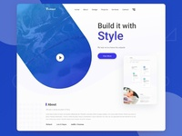 Clean Home Page Design
