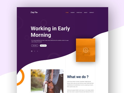 Web UI Design for Landing Page #2