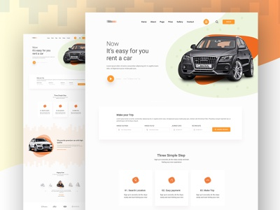 Car Rental Landing Page Idea illustration design landing page ui ux creative interface icon car rental minimal landing page concept concept car uidesign clean