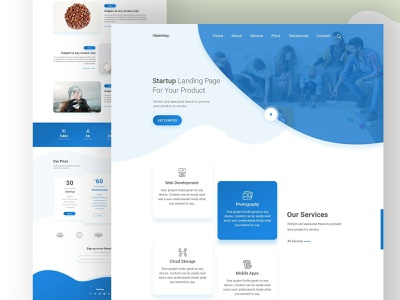 Startup Landing Page Idea #02 website flat ux landing page minimal business digital agency modern marketing ui web design startup corporate clean
