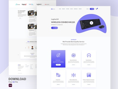 Tech Product Home Page [Free Download]