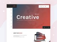 Creative Agency Home Page Header Idea
