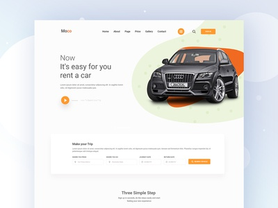 Car Rental Landing Page Ideas