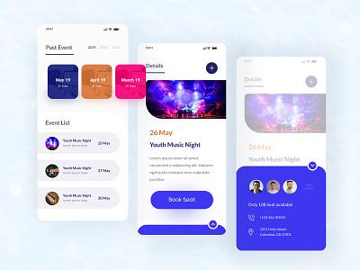 Event App application app ui app ui design creative illustration design uidesign ui ux clean iso apps event event app apps screen apps design app