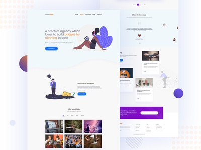 A Startup Agency Landing Page