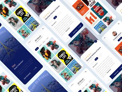 Reading App Design mobile ui mobile app design mobile app ios clean ux color uidesign creative apps screen book apps uiux ui apps design