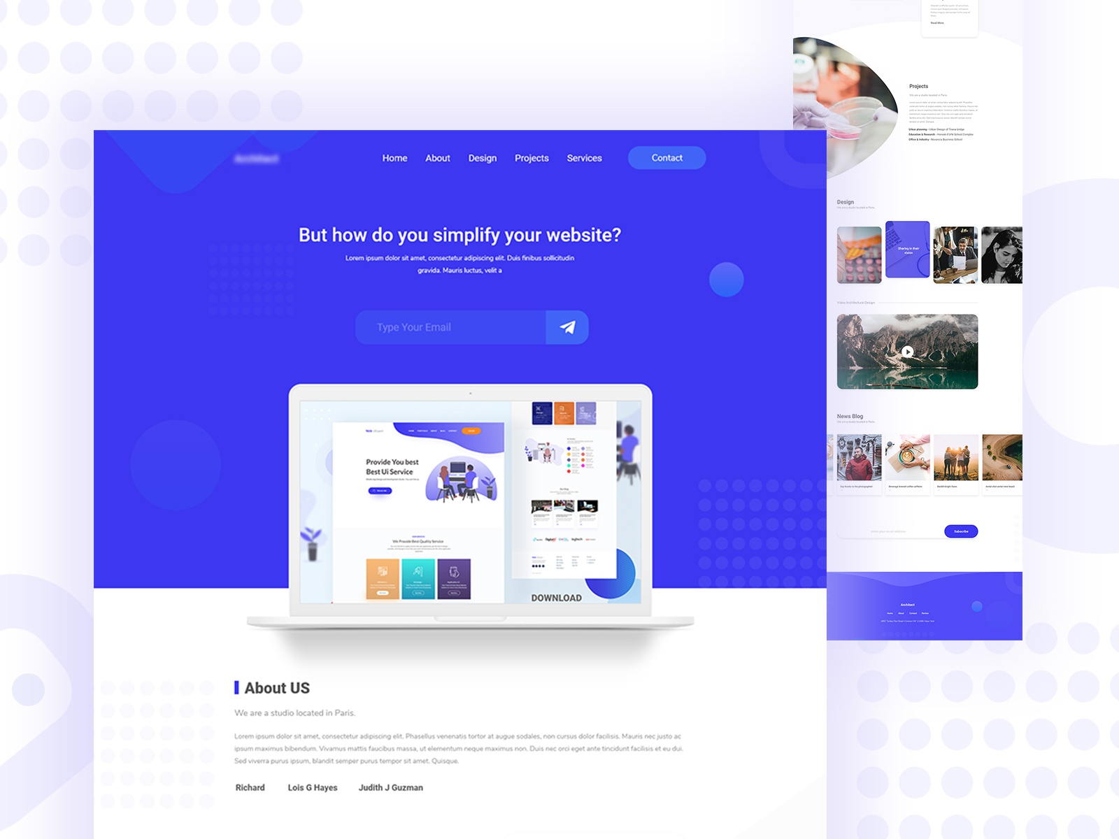 Website design for agency
