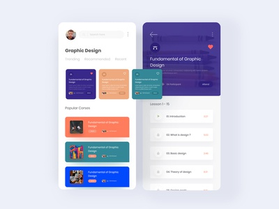 Design Course App UI