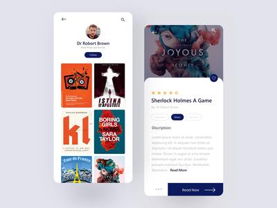 Reading App Design - Writer Screen