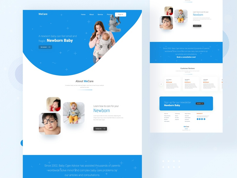 Wecare Website About Page website template website webdesign web ux uidesign ui typography minimalism minimal landing page landing illustration design creative color clean app agency about page