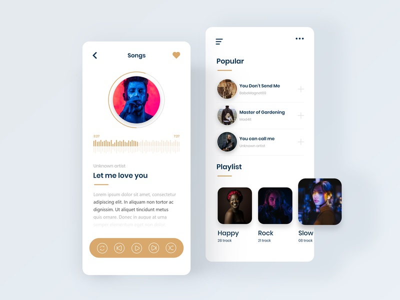 Music App UI Concept minimal ui gradient music app iso mobile app design mobile ui app design illustration agency website color uidesign design creative clean ux ui