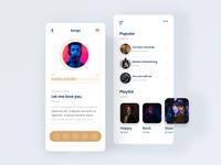Music App UI Concept