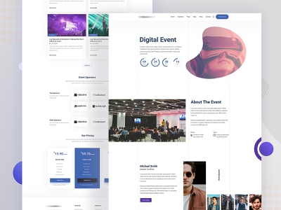 Digital event landing page landing page design digital event event page event landing page digital landingpage landing page landing agency website color uidesign design creative clean ux ui