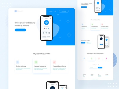 VPN App Landing page