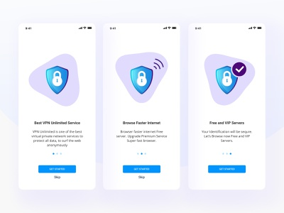 VPN App Onboarding onboarding onboarding ui onboarding screens ios application ios app design aplication app design onboarding screen branding illustration website color uidesign design creative clean ux ui
