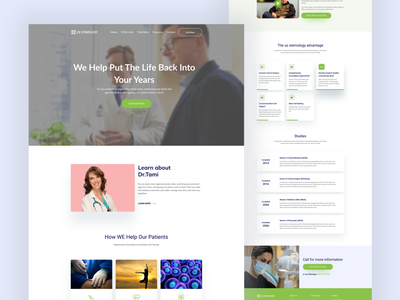 Redesign - Alternative medicine practitioner in Seattle Website ux design minimal corporate design landingpage medical website design redesign landing page landing agency website color uidesign design creative clean ux ui