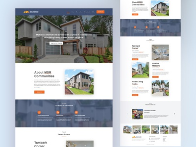 Homepage for international builder homepage design interface agency website building business website user experience design user interface design typography landing agency website color uidesign design creative ux clean ui