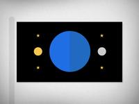 Earth Flag Reverse
