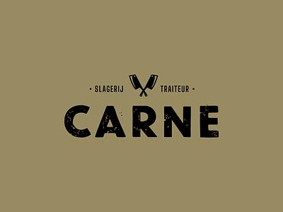 Logo Carne typogaphy logodesign butchery butcher meat carne graphicdesign design logotype logo design logo