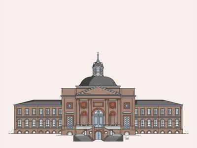 Godshuis Sint-Laureins illustrations illustration art home illustrator design graphicdesign church vector building illustration