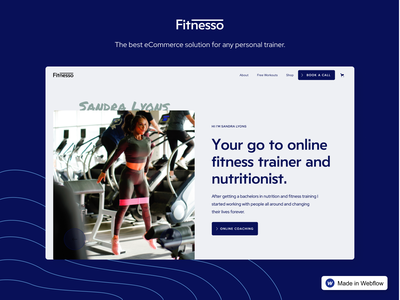 Fitnesso – Fitness Website Template online course fitness app therapist personal trainer free template template freebies freebie covid19 covid fitness webflow website