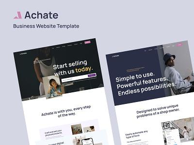 Achate - Business Website Template branding digital agency web grid design clean template grid layout webflow design website