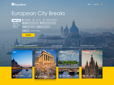 UI Challenge 001 - Expedia Cover cover blog travel expedia challenge ui interface