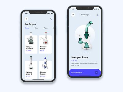 Bongo Shop e-commerce typography app shop concept ui ecommerce design bong mobile app design ecommerce design store
