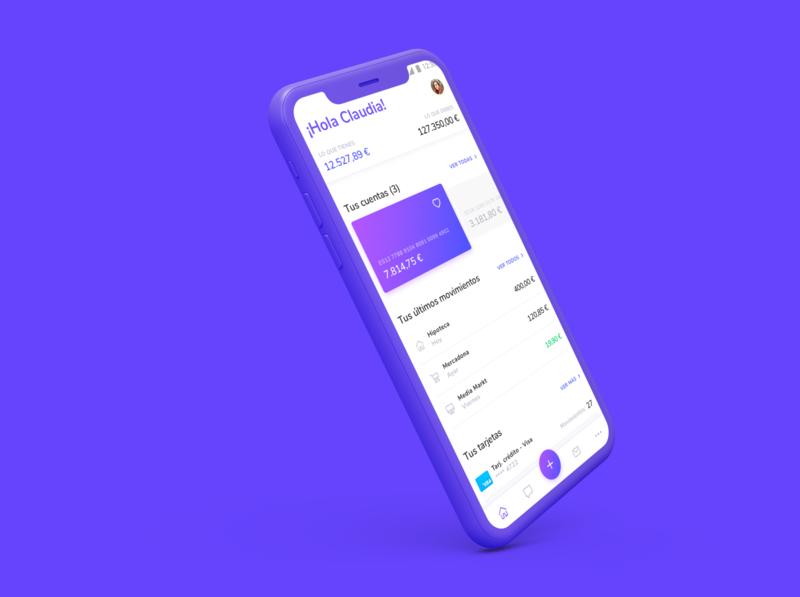 FinBank design ui ux online banking fintech app product design