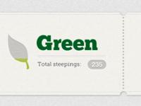 Green tea ticket