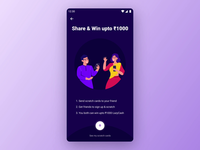 Refer & Earn - intro page motion colorful art introduction layout diwali after effects design for delight microanimation lottie 2d refer  earn interaction delightful ux design motion graphic design motion graphics animation ui