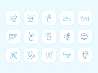 Event Category icons ui vector illustration icons