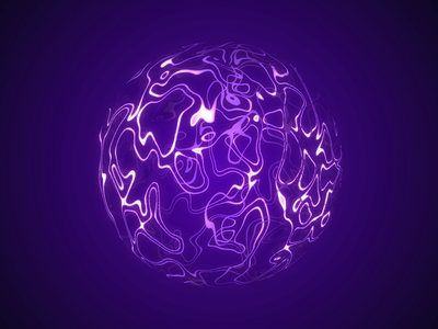 Purple Orb psychedelic water siri alexa adobe sphere motion waves purple orb after effetcs motion graphics 3d animation