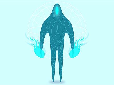 Alien Character Design #02 web design eye alien illustration character dota graphic 3d concept art ux ui